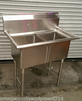 NEW 2 Compartment 15X15 Sink #2240 Stainless Steel NSF Restaurant Double Basin