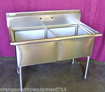 NEW 2 Compartment 18x18 Sink Stainless Steel NSF #1081 Commercial Restaurant Bin