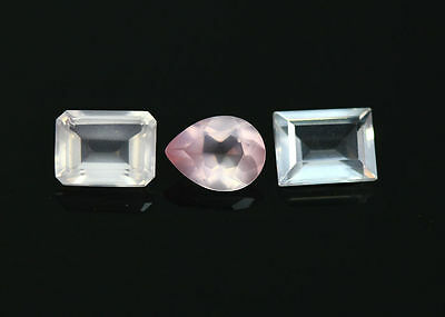 4.09 Cts_World Class Very Rare Gemmy_100 % Natural Rose Quartz Faceted_Brazil