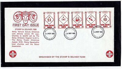 Scout Stamps 1988 Derby Venture Scouts FDC