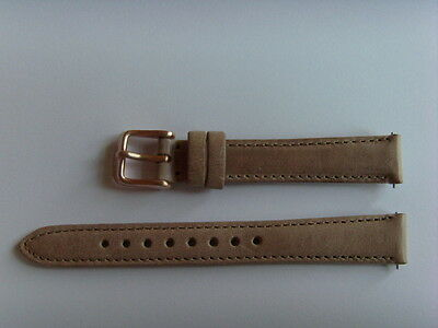 FOSSIL Original Ersatz Lederarmband AM4501 Uhrband watch strap beige brown 14 mm