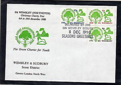Scout Stamps 1990 Wembley & Sudbury 10p  FDC