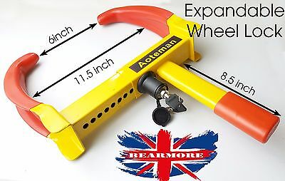 CAR WHEEL CLAMP LOCK HEAVY DUTY WITH 2 KEYS Cars, Vans, Caravans, Motorhome