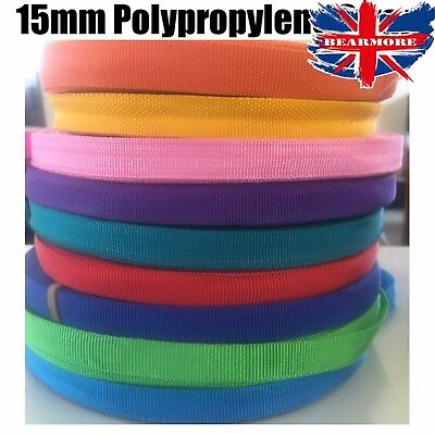 15MM POLYPROPYLENE STRAP LIGHT STRONG FLEXIBLE WEBBING CARGO SEA GREEN