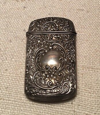 Art Nouveau Antique American Made Sterling Silver Ornate Match Safe