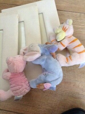 Disney Tigger, Piglet And Eeyore Picture Frames. Classic Style Animated Figures