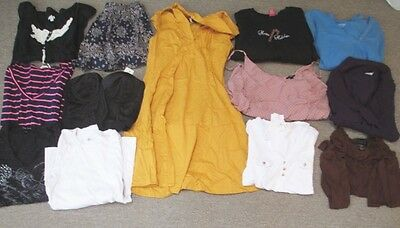 Nice lot of Womens Juniors size Large clothing tops. blouses, dress