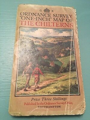 Ordnance Survey One Inch Map Of The Chilterns - Vintage