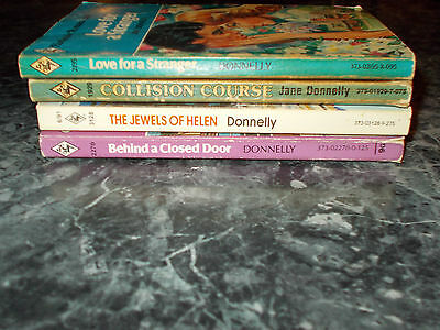 Harlequin romance Jane Donnelly lot of 4 contemporary romance paperback