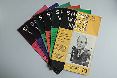 SHORT WAVE NEWS magazine x6 - 1946-47 very good condition