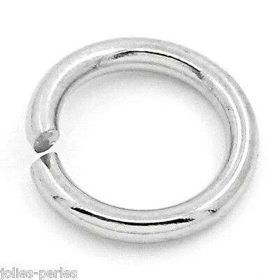 "100PCs Stainless Steel Split Rings Findings Silver Tone 8mm(3/8"")Dia."