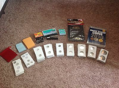 Large Coin Collecting Kit,Stapler-Coin Album-2x2 Flips-Dual Loupe-Buying Guide +
