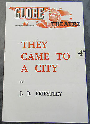 The Globe Theatre, London Vintage Programme They Came To A City 1940's Air Raid