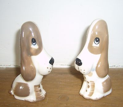 Two Szeiler Basset Hounds Sitting