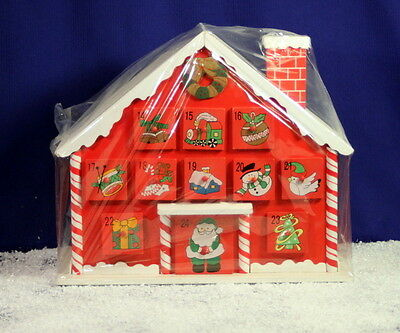 Christmas Festive Candy House Advent Calendar 24 Drawers and FREE chocolates ��