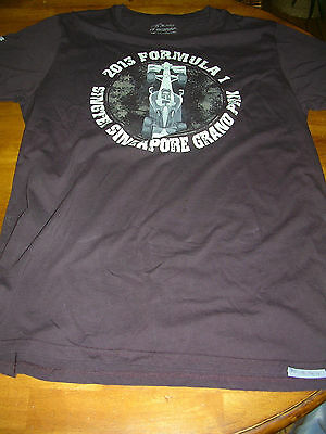 Official F1 2013 Singtel SIngapore Grand Prix t shirt - large - new without tags