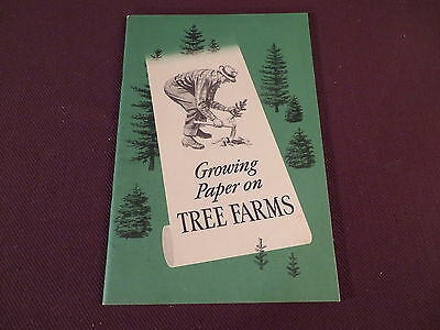 Crown Zellerbach Growing Paper on Tree Farms Booklet - Circa Late 1940s - 28 Pgs