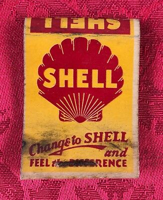 Vintage Shell Gasoline Station Match Book Cover Gas & Oil Advertising