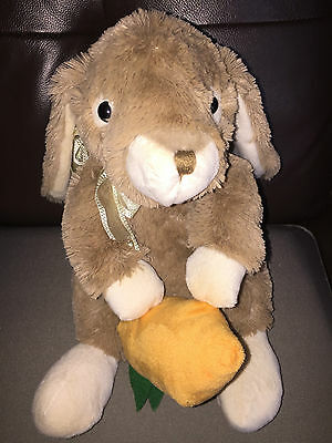 Brown Bunny Rabbit With Carrot 25Cm Soft Toy Cuddly Plush Easter