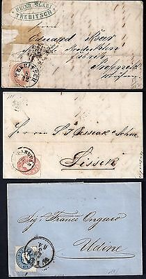 AUSTRIA 1850's COLLECTION OF 8 CLASSIC COVER INCLUDING 9ka ON TWO COVERS VIENNA