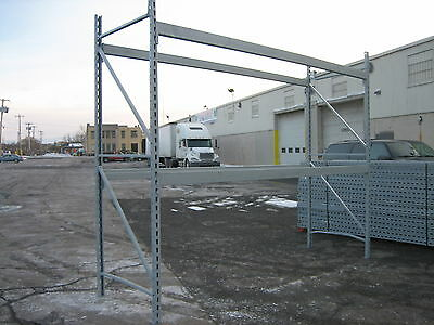 "4 Sections Republic Pallet Rack 40' L X 12't X 42"" Deep , Clean Racking , Hd"