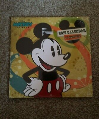 DISNEY MICKEY MOUSE & FRIENDS 16 MONTH 2015 CALENDAR NEW SEALED crafts paper