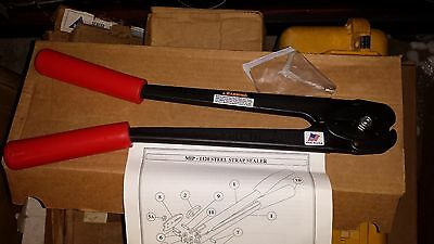 """MIP MIP-1100-34 Double Notch Steel Strap Strapping Sealer 3/4 """" EB0806"""