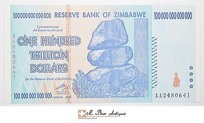 2008 100 Trillion Dollar Reserve Bank Of Zimbabwe Currency Note *919