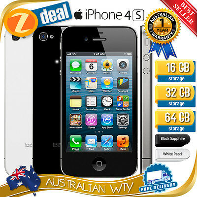 (NEW SEALED BOX) APPLE iPHONE 4S 16GB 32GB 64GB FACTORY UNLOCKED +  AUS WARRANTY