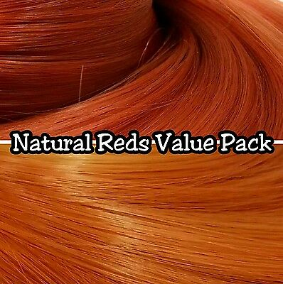 Auburn & Ginger Reds 2 Color Value Pak Nylon Doll Hair Reroot Barbie Ever After