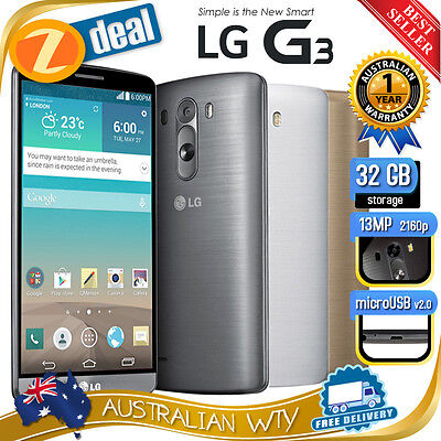 (New Sealed Box) Lg G3 D855 16Gb 32Gb 4G Lte Factory Unlocked Phone 12Mth Oz Wty