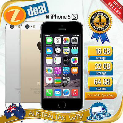 (NEW SEALED BOX) APPLE iPHONE 5S 16GB 32GB 64GB FACTORY UNLOCKED + 12MTH AUS WTY