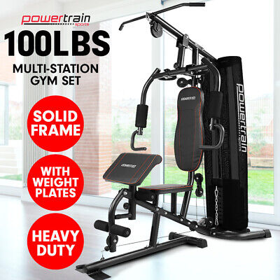Powertrain Multistation Home Gym Exercise Workout Fitness Weights 80lbs
