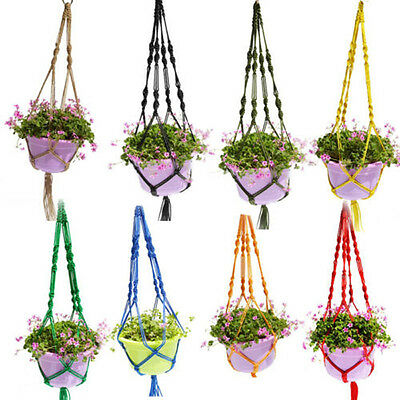 Plant Pot Hanger Macrame Jute For Indoor Outdoor Ceiling Holder Hanging Baskets