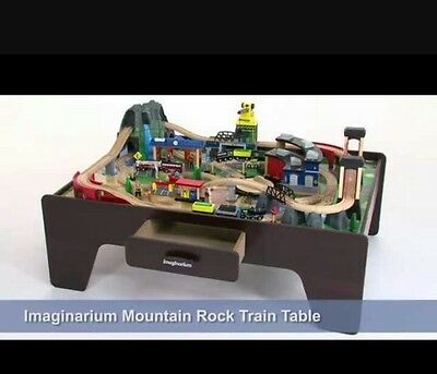 IMAGINARIUM 100+ PIECE Mountain Rock Train Table Set Wooden Toy Kids ...