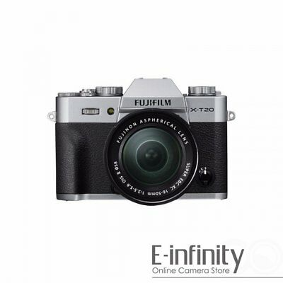 NEW Fujifilm X-T20 Mirrorless Digital Camera with 16-50mm Lens (Silver)