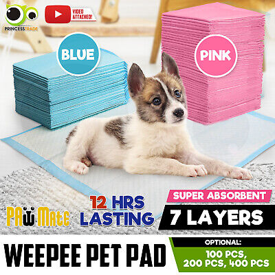 Premium Puppy Pet Dog Cat Indoor Toilet Training Pads Absorbent 100/200/400