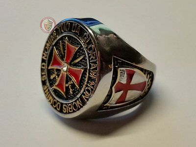 Templar Knights Signet Ring - Stainless steel Size 11 - (V½ - 64.6mm)