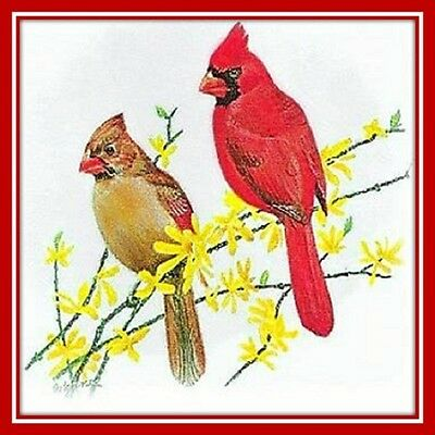 30 Custom Cardinal Art Personalized Address Labels