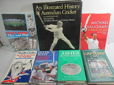 Cricket themed book collection x 29 titles, sport, job lot  /BX772