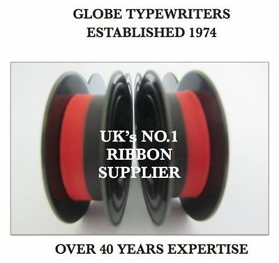 2 x 'SILVER REED SEVENTY' *BLACK/RED* TOP QUALITY *10 METRE* TYPEWRITER RIBBONS