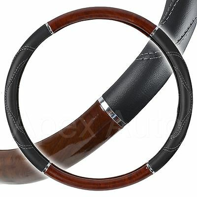 WOOD EFFECT HGV Steering Wheel Cover for SCANIA ISUZU ERF MAN FODEN 47 - 48cm