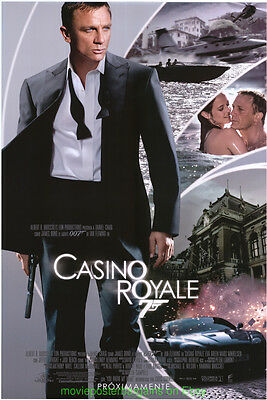 CASINO ROYALE MOVIE POSTER Double Sided 27x40 Intl. DANIEL CRAIG is JAMES BOND