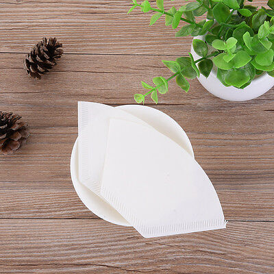 40pcs Brand New Coffee Filter Papers Cones Cups Brewer Espresso Strainer Dripper
