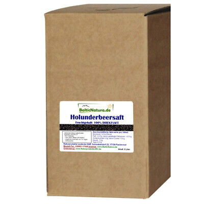 100%iger Holundersaft (4,39EUR/l) 5 Liter Bag in Box Holunder Saft