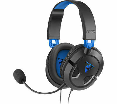 TURTLE BEACH Ear Force Recon 50P Gaming Headset - Black & Blue - Currys