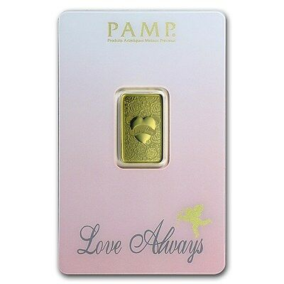 ++ Pamp Suisse  -  Love Always - 5g Goldbarren im Blister ++