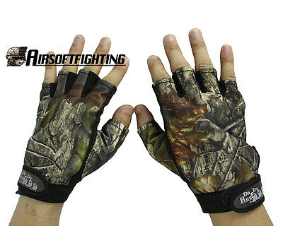 Outdoor Camouflage Anti-slip Hunting Gloves Half Fingers Waterproof Gloves