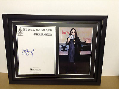Ozzy Osbourne Genuine Hand Signed/Autographed Songsheet with a Photo and COA