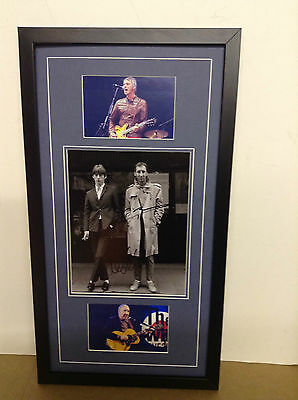 Paul Weller & Pete Townshend Hand Signed/Autographed Photograph with COA